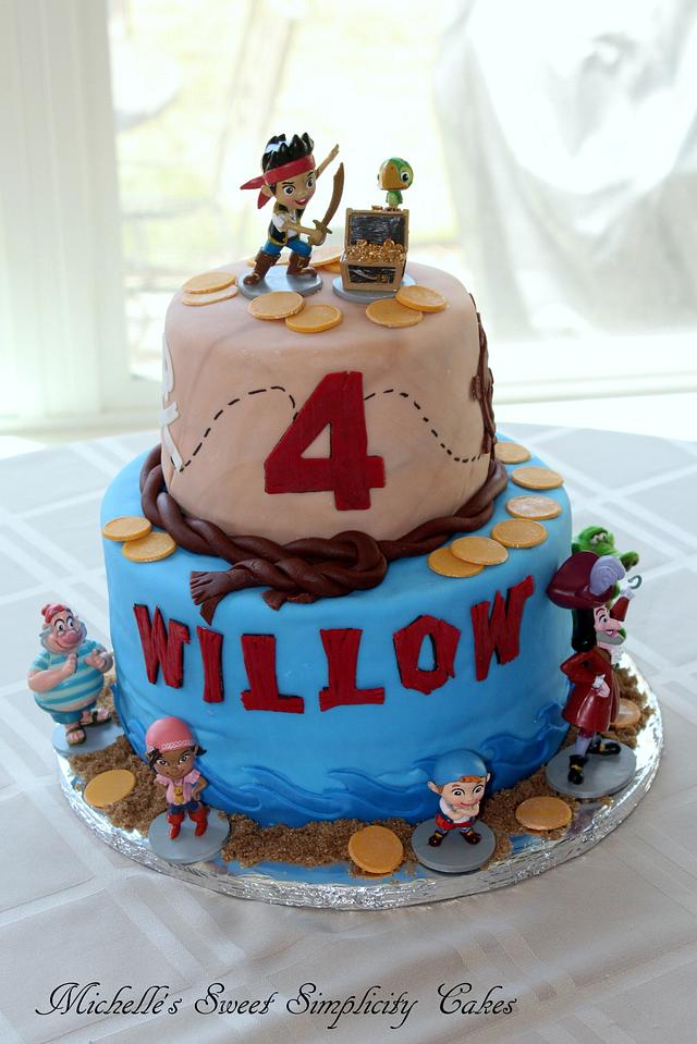 Prime Jake And The Neverland Pirates 4Th Birthday Cake Cake Cakesdecor Funny Birthday Cards Online Inifodamsfinfo
