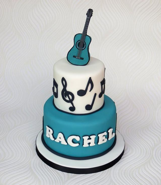 Acoustic Guitar Music Cake