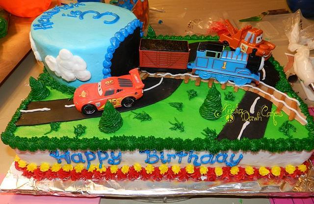 Thomas the Train and Cars the Movie cake
