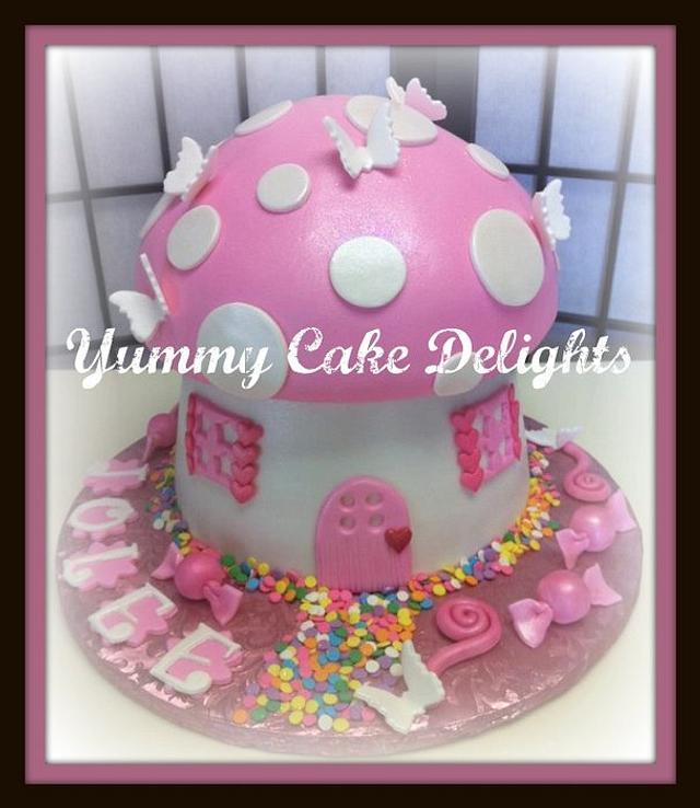 Fairy Cottage Birthday Cake