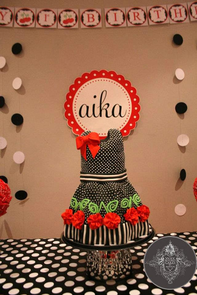 Dress Themed Birthday Cake for my daughter