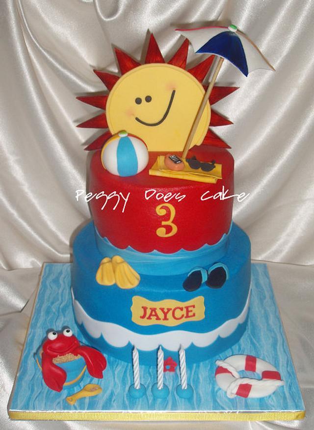 Jayce's Splish Splash Cake