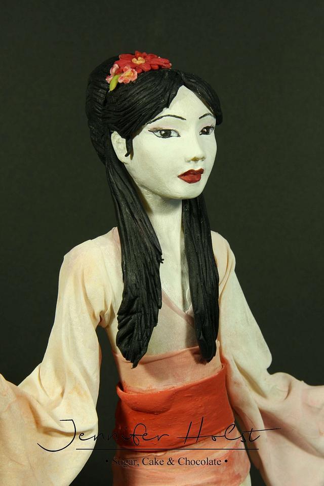 Geisha - Asian Style Figurine Cake Topper