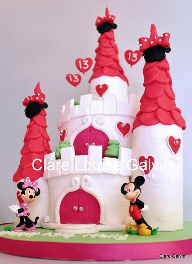 Excellent Disney Castle Cake Cake By Clare Galvin Cakesdecor Personalised Birthday Cards Beptaeletsinfo
