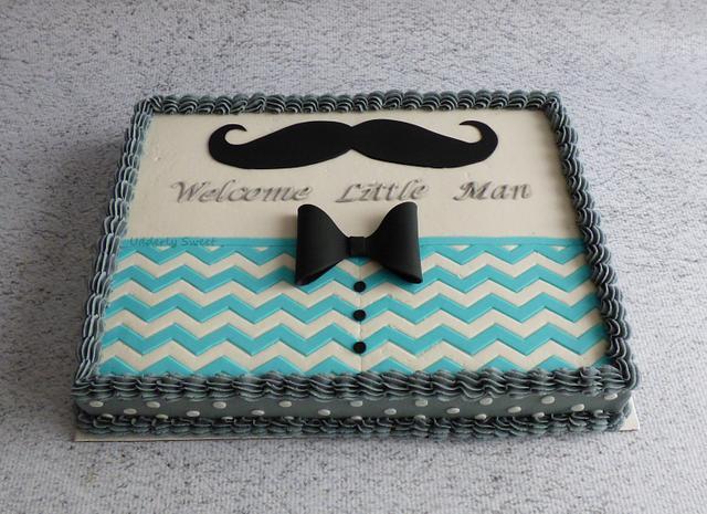 Mustache Baby Shower Cake