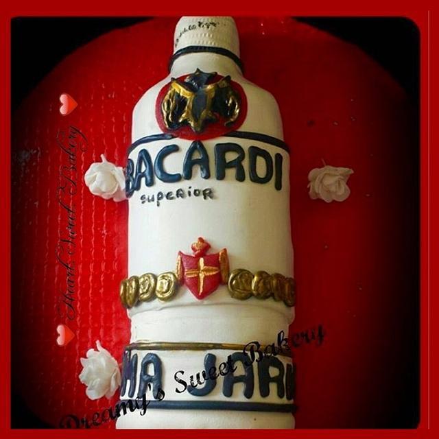 3D Bacardi bottle