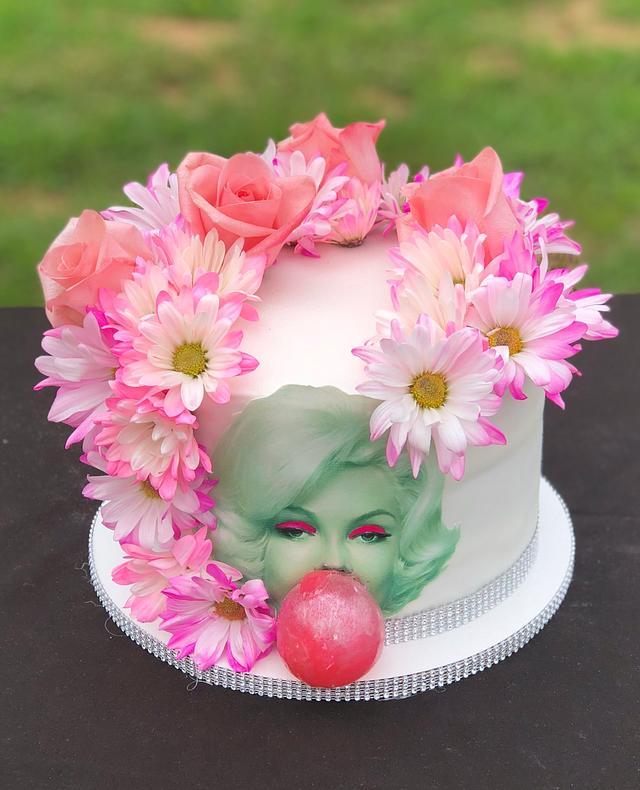 Sensational Marilyn Monroe Birthday Cake Cake By Tiffany Dumoulin Cakesdecor Personalised Birthday Cards Paralily Jamesorg
