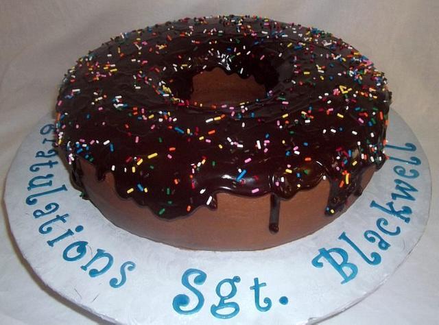 Huge Chocolate Donut