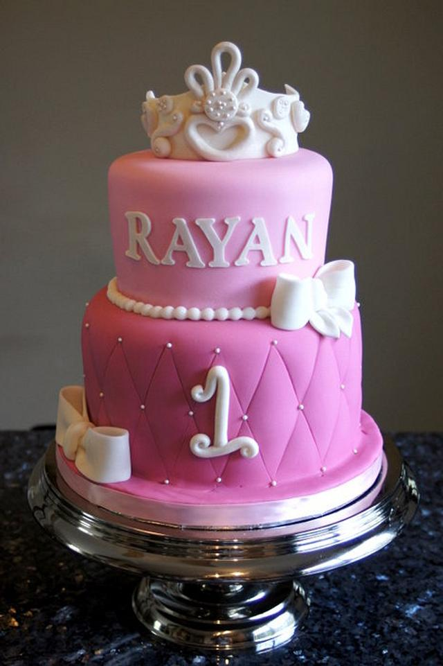Super Princess First Birthday Cake Cake By Sylvia Cake Cakesdecor Funny Birthday Cards Online Alyptdamsfinfo