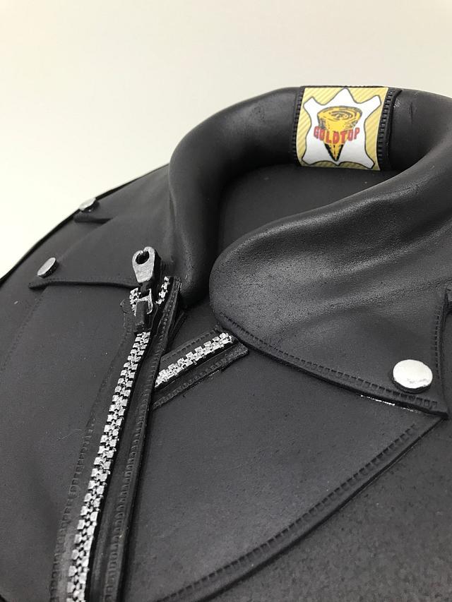 Leather Jacket biker cake