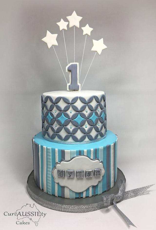 Brilliant Boys First Birthday Cake Cake By Curiaussiety Cakes Cakesdecor Personalised Birthday Cards Veneteletsinfo