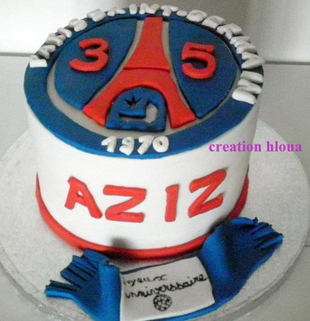 Cake Psg Cake By Creation Hloua Cakesdecor