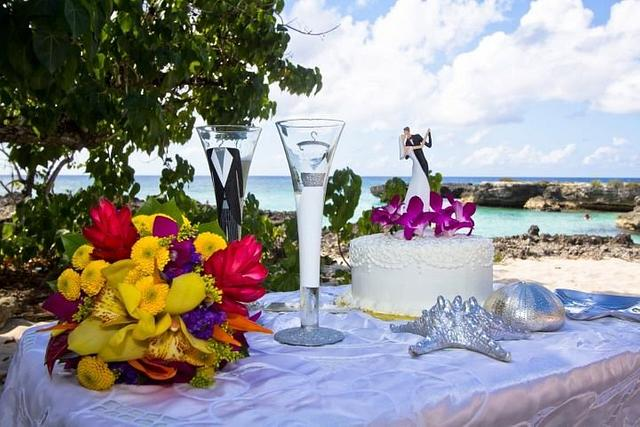 Single Tier Cornelli Lace Wedding Cake