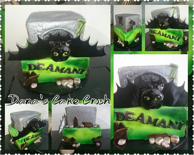 How to train you dragon cake Toothless