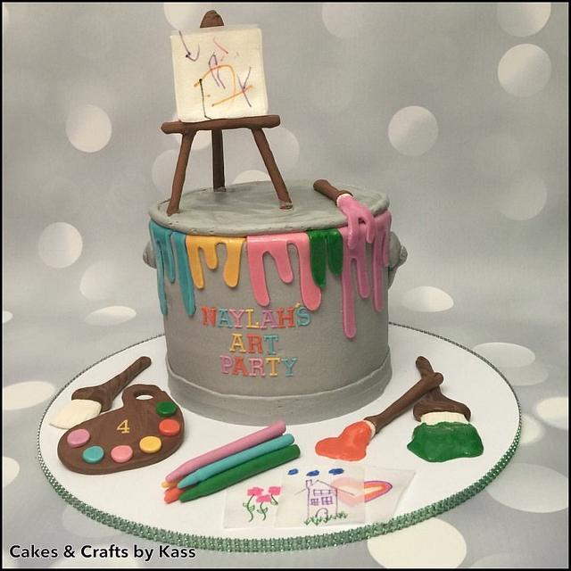 Buttercream Paint Can Cake