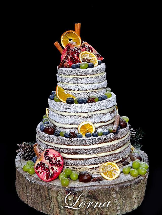 Winter Naked Cake..