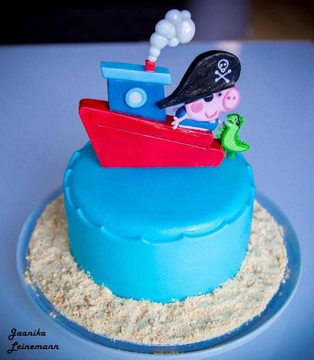 George Pig Pirate cake