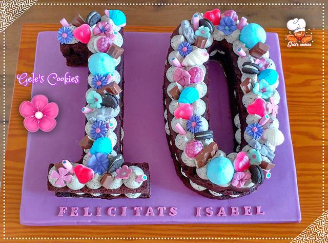 Super Biscuit Number 10 Cake Cake By Geles Cookies Cakesdecor Funny Birthday Cards Online Ioscodamsfinfo