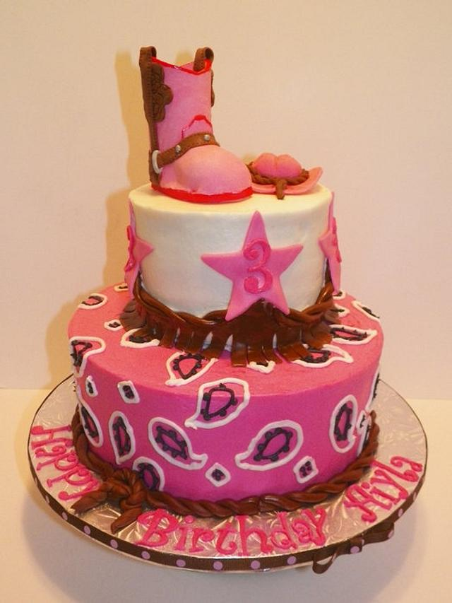 Miraculous Cowgirl Birthday Cake By Jody Wilson Cakesdecor Personalised Birthday Cards Bromeletsinfo
