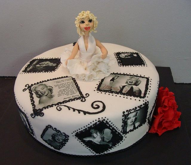 Awesome Marilyn Monroe Cake Cake By Liesel Cakesdecor Funny Birthday Cards Online Alyptdamsfinfo