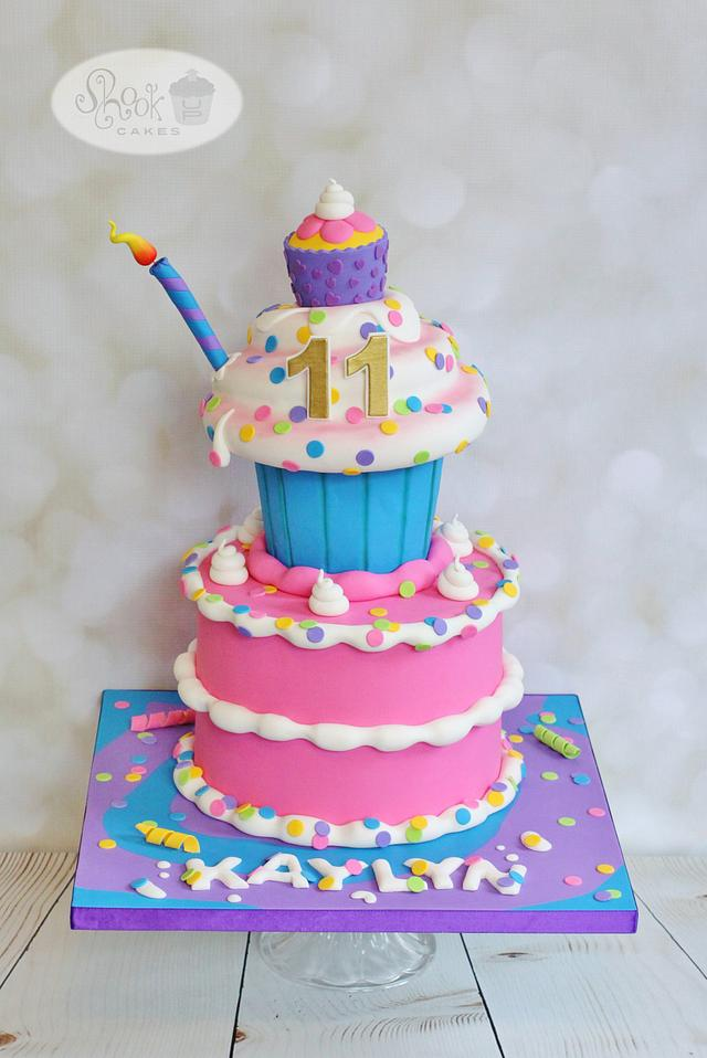 Stupendous Whimsical Fun Birthday Cake Cake By Leila Shook Cakesdecor Personalised Birthday Cards Cominlily Jamesorg