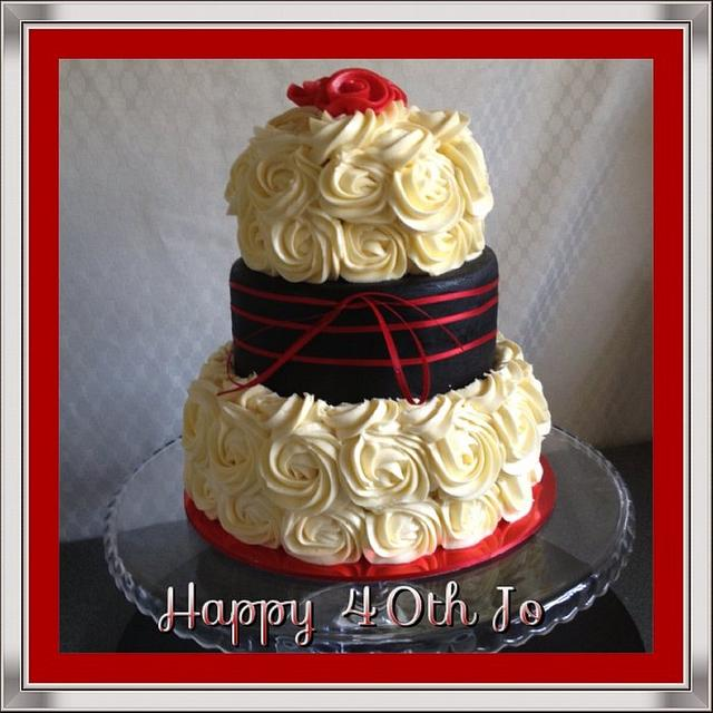 red black & white - hummingbird & mud 3 tier