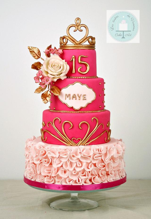 Magnificent 15 Birthday Cake Cake By Vanessa Rodriguez Cakesdecor Funny Birthday Cards Online Inifofree Goldxyz