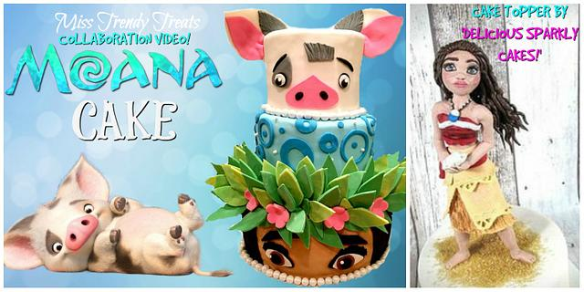 MOANA CAKE COLLAB. WITH 'DELICIOUS SPARKLY CAKES!'