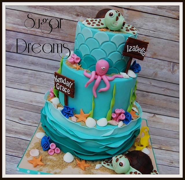 Superb Sea Turtle Cake Cake By Sugar Dreams Cakesdecor Personalised Birthday Cards Veneteletsinfo