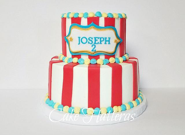 Tremendous Circus Themed Birthday Cake Cake By Donna Tokazowski Cakesdecor Funny Birthday Cards Online Elaedamsfinfo