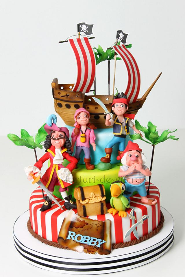 Brilliant Captain Hook And Neverland Pirates Cake By Viorica Dinu Cakesdecor Personalised Birthday Cards Arneslily Jamesorg