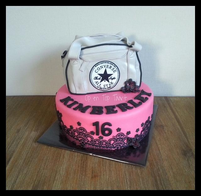 Phenomenal Converse All Star Birthday Cake Cake By Op En Top Taart Cakesdecor Funny Birthday Cards Online Bapapcheapnameinfo