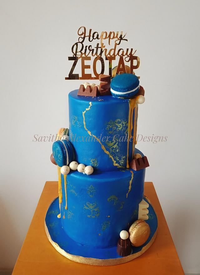 Royal blue cake