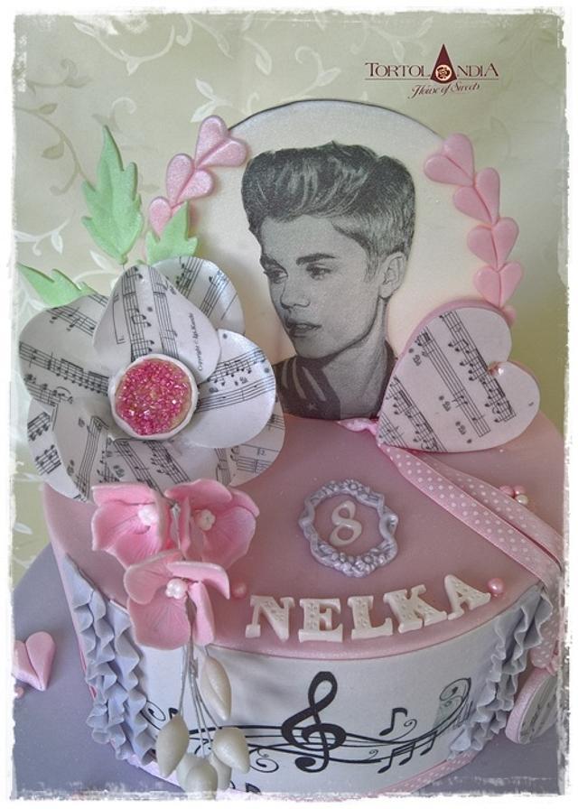 Music cake - Justin Bieber