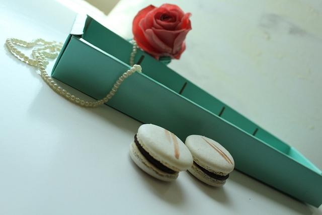 Sugar Flower and Delicate Macarons