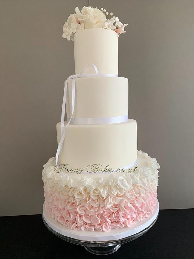 Ruffles wedding cake
