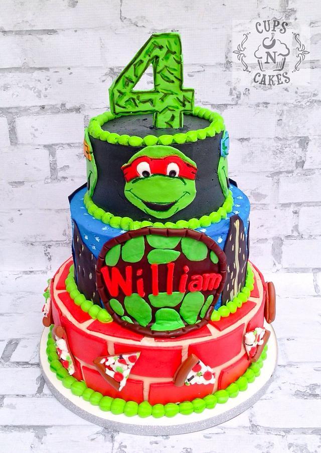 Enjoyable Ninja Turtles 4Th Birthday Cake By Cups N Cakes Cakesdecor Personalised Birthday Cards Paralily Jamesorg