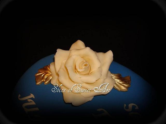 Save the Date Cake