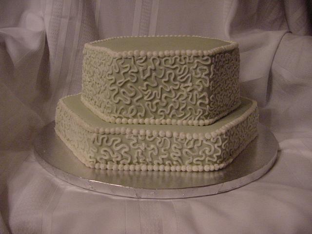 Cornelli Lace Birthday Cake