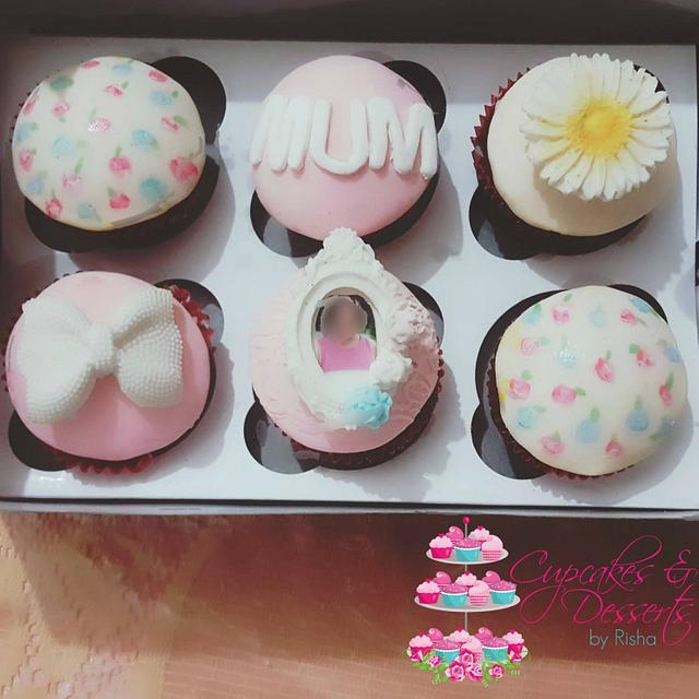 Vintage Cupcakes for Mom