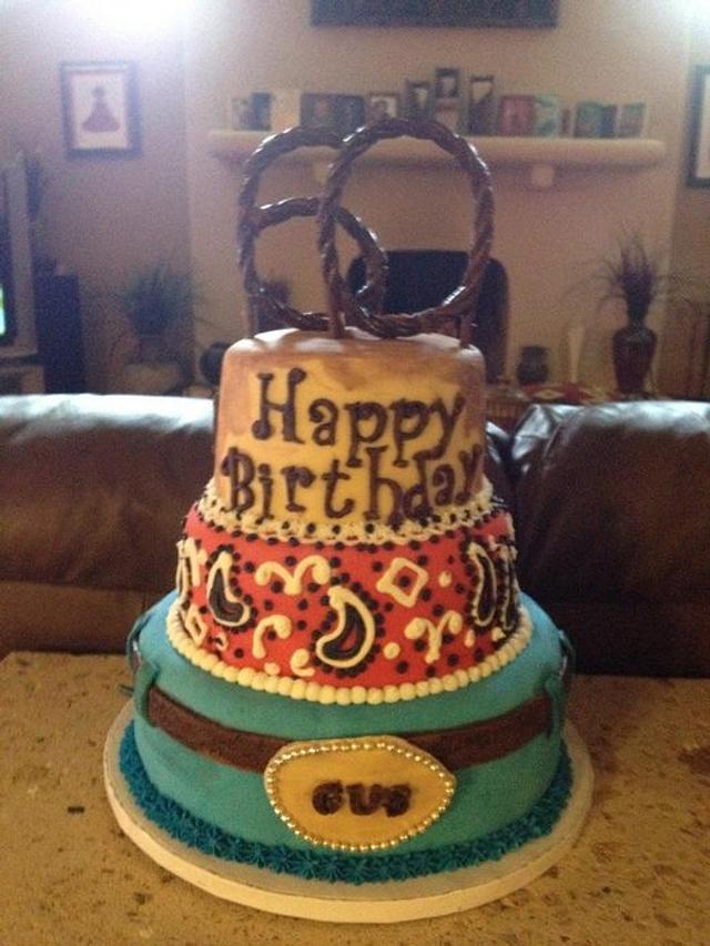 Pleasant Western Themed Birthday Cake Cake By Beth78148 Cakesdecor Funny Birthday Cards Online Alyptdamsfinfo