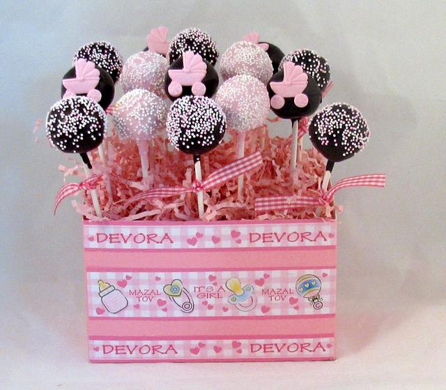 New Baby Cake Pops Basket
