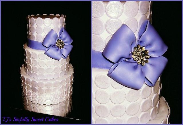 Purple Polka Dot Wedding Cake