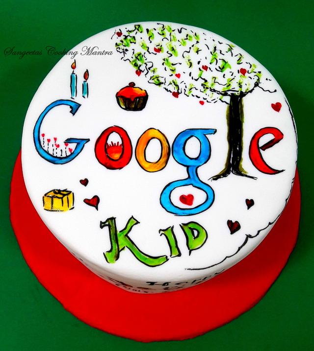 Google Doodle cake