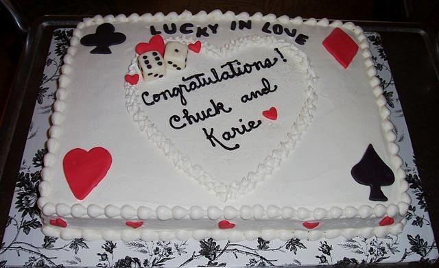 Lucky in Love Bridal Shower Cake