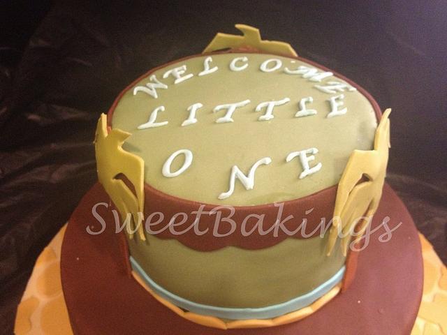 Baby simba Cake