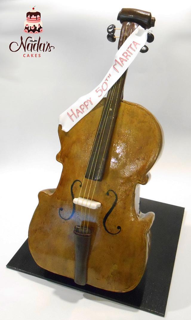 Cello Birthday Cake