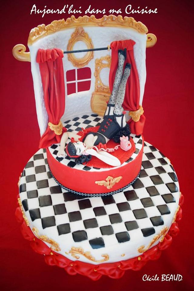 Retro Pin Up Cake - CakeCentral.com