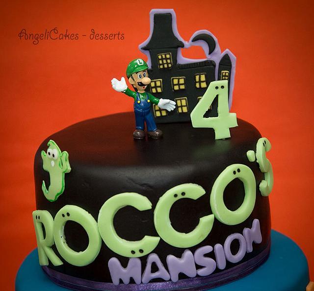 Brilliant Luigis Mansion Cake By Angelica Galindo Cakesdecor Funny Birthday Cards Online Unhofree Goldxyz