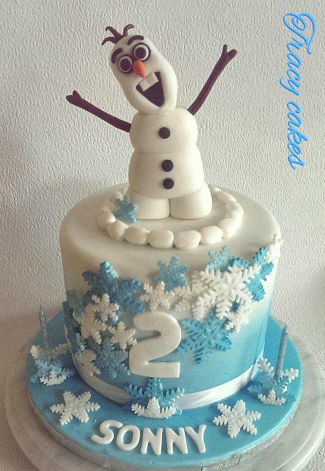 Incredible Olaf Birthday Cake Cake By Tracycakescreations Cakesdecor Funny Birthday Cards Online Alyptdamsfinfo